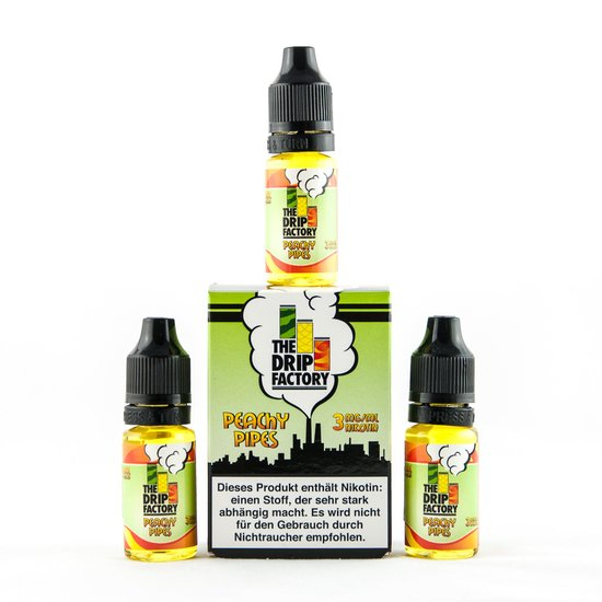 The Drip Factory Peachy Pipes Liquid 3x10ml 0mg